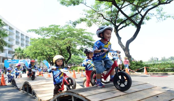 Tại Tài năng trẻ Phú Mỹ Hưng 2019, trẻ sẽ có cơ hội tham gia nhiều trò chơi vận động mới lạ.
