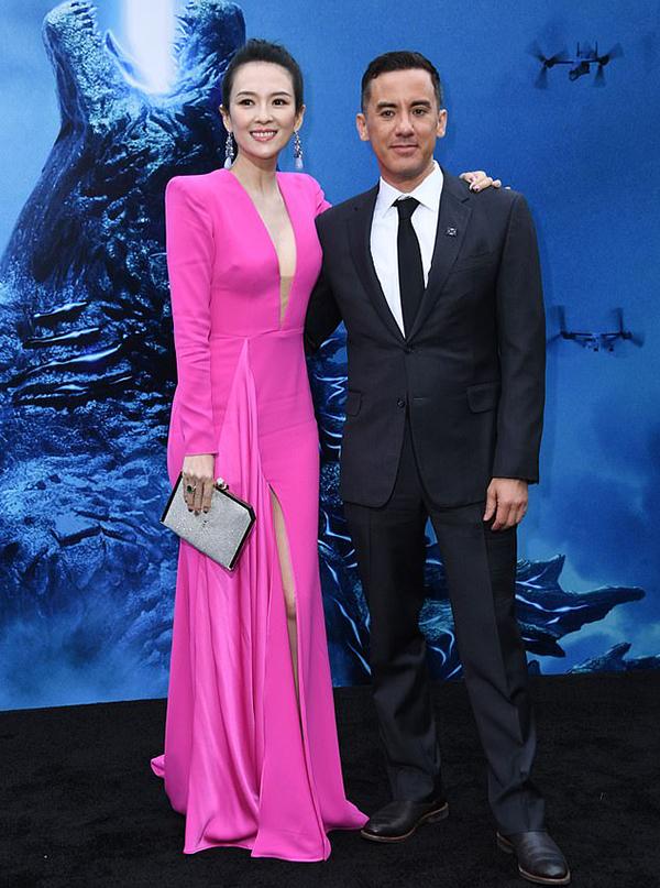 Chương Tử Di dự buổi công chiếu phim Chúa tể Godzilla ở California hôm đầu tuần.