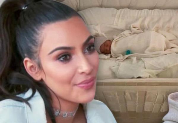 Kim vừa chào đón con thứ tư nhờ người mang thai hộ.