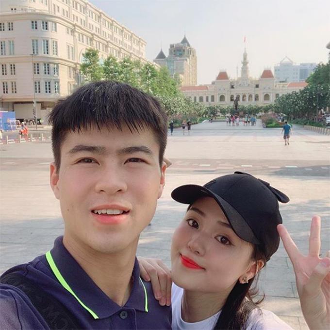 Duy Mạnh và bạn gái Quỳnh Anh. Ảnh: Instagram.