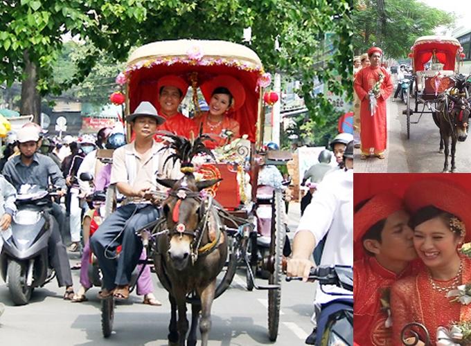 Xe rước dâu của Đức Thịnh - Thanh Thúy đi tới đâu tắc đường tới đó - 1