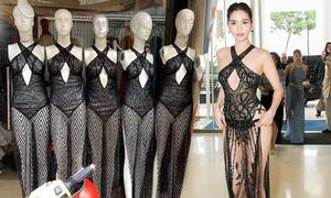 Váy hở bạo của Ngọc Trinh tại Cannes bị nhái hàng loạt