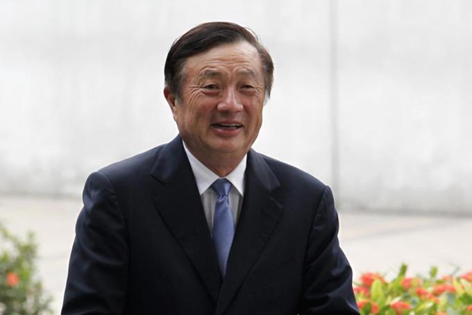 Nhà sáng lập kiêm chủ tịch tập đoànHuawei, Ren Zhengfei tại trụ sở công ty ở Thâm Quyến, Trung Quốc năm 2013. Ảnh: Reuters.