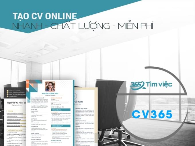 Tạo CV thu hút nhà tuyển dụng tại timviec365.vn - 1