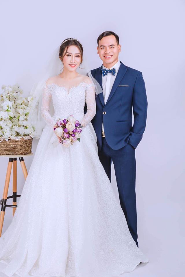 Vợ chồng chị Hoàng Oanh.