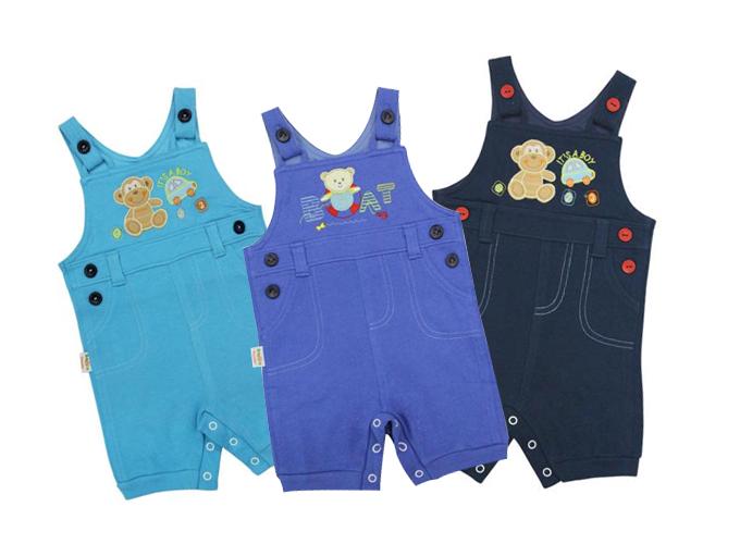 Quần yếm bé trai BabyOne LQ0925 gồm 3 màu: xanh đen, xanh biển và xanh dương, giá 137.000 đồng.