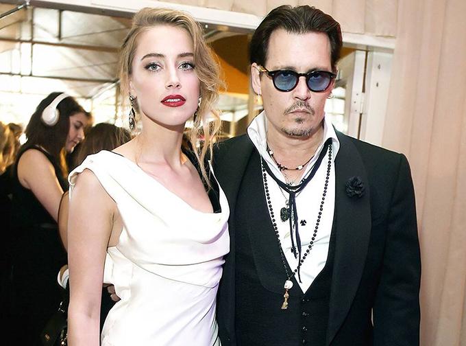 Amber Heard - Johnny Depp thuở bên nhau.