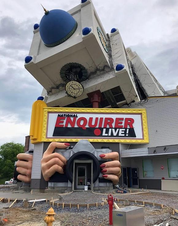Phòng triển lãm 3D vụ tai nạn của Diana ở công viên National Enquirer Live, bang Tennessee, Mỹ. Ảnh:National Enquirer Live.