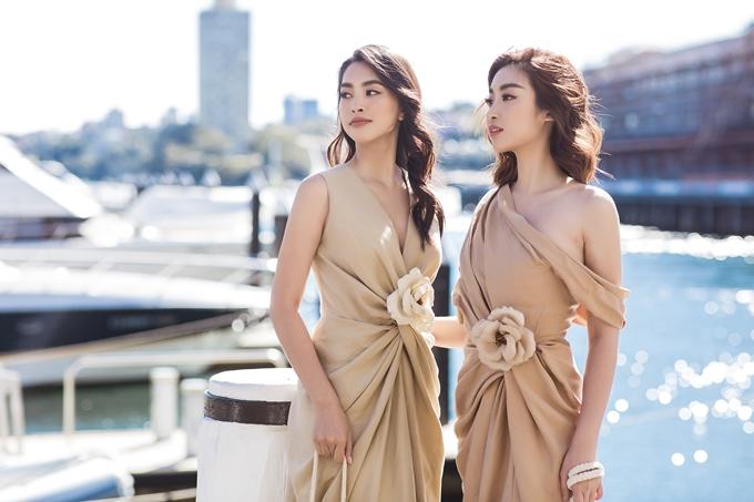 Hoa hậu Đỗ Mỹ Linh và Tiểu Vy hội ngộ tại Sydney trong chuyến công tác mới đây.