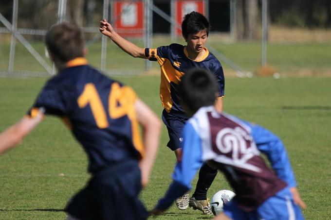 Martin Lo khi còn chơi bóng ở Australia.