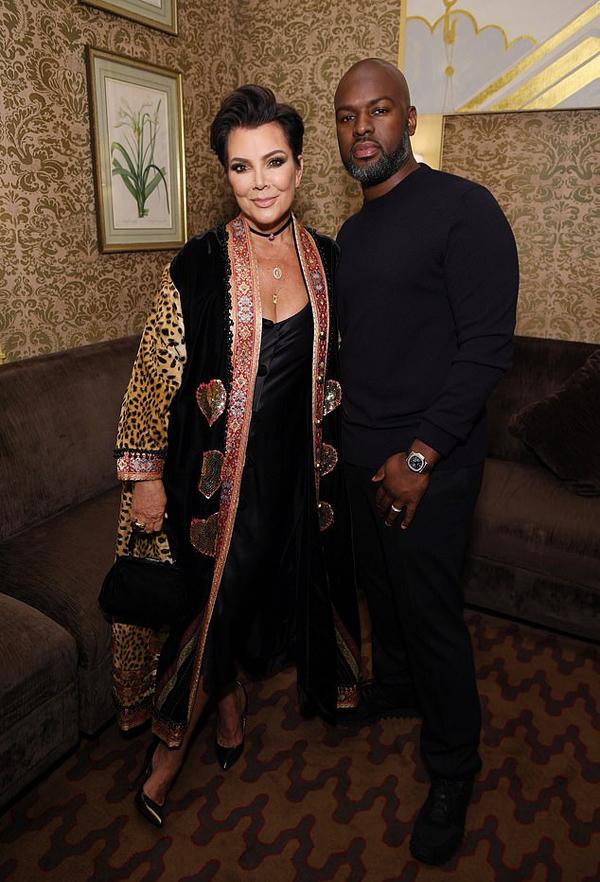 Mẹ Kim và chàng người tình Corey Gamble.
