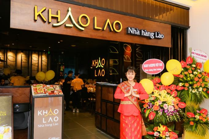 Nhà hàng Lào Khao Lao có phong cách hiện đại, sang trọng.