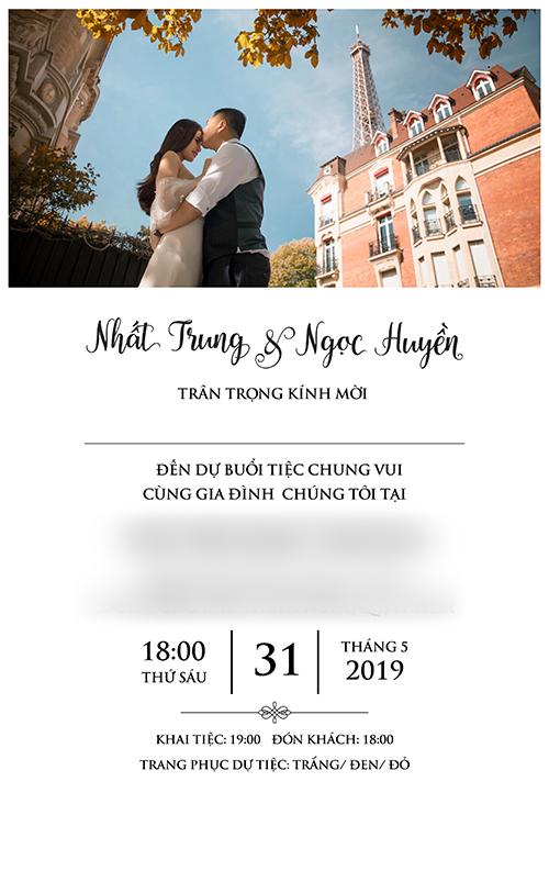 Thiệp cưới của đạo diễn Cua lại vợ bầu và cô dâu 9X - 1