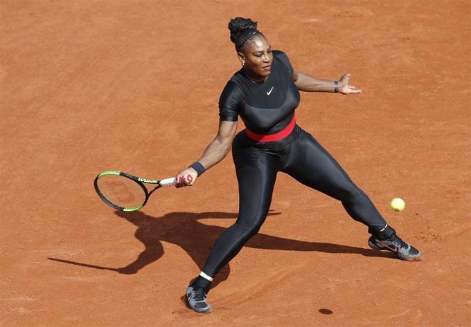 Trang phục báo đen của Serena Williams tại giải năm ngoái.