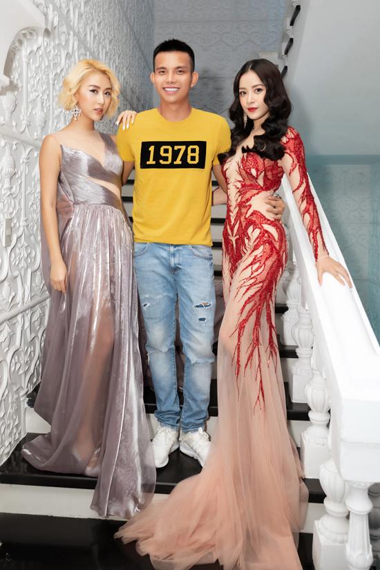 Chi Pu, Quỳnh Anh Shyn diện váy xẻ quay hình show Đỗ Long