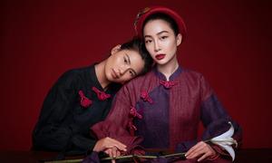 Linh Nga làm mẫu ảnh cùng nhà thiết kế Thủy Nguyễn