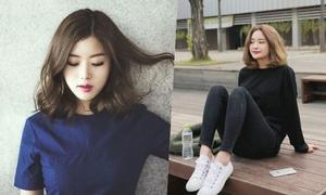 Tóc ngắn chấm vai kiểu Hàn hot nhất hè năm nay