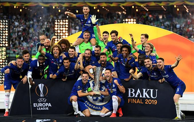 Chelsea có danh hiệu châu Âu thứ 5 trong lịch sử CLB. Ảnh: Reuter.