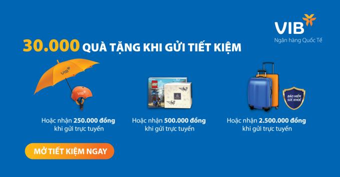 Cơ hội nhận 2,5 triệu đồng khi gửi tiết kiệm online