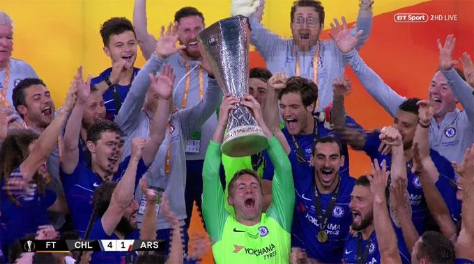 Hình ảnh gây chú ý ở lễ ăn mừng chức vô địch là thủ môn dự bị Green được các đồng đội xếp ở vị trí trung tâm...