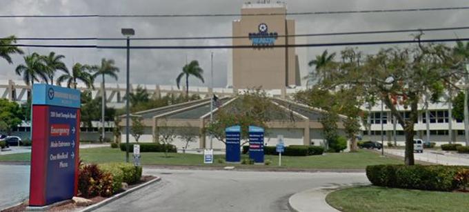 Bệnh viện North Broward, bang Florida, Mỹ. Ảnh: