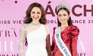 Diễm Hương đọ sắc với Hoa hậu Thế giới người Việt tại Pháp