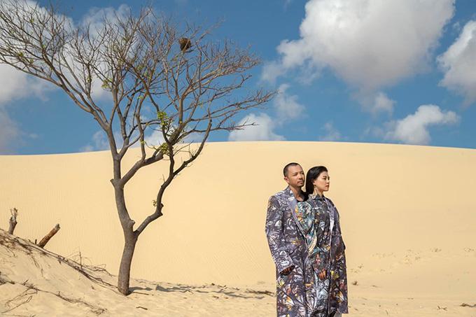 Bùi Lan Hương và rapper Hà Lê đứng hàng giờ dưới nắng giữa bãi cát ở Phan Thiết khi đóng MV.