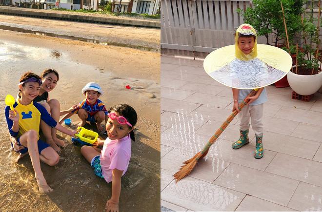 MC Thanh Thảo và ông xã đặt ra cho con những nguyên tắc để các bé không bị phụ thuộc thiết bị số, dành thời gian khám phá xung quanh, được tự do vui chơi lấm bẩn.