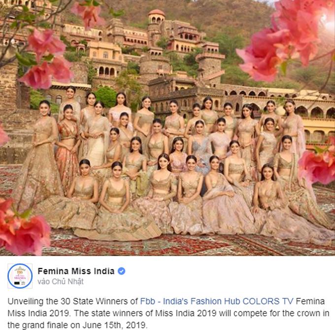 30 người đẹp sẽ dự đêm chung kết cuộc thi Femina Miss India hôm 15/6. Ảnh: Twitter.