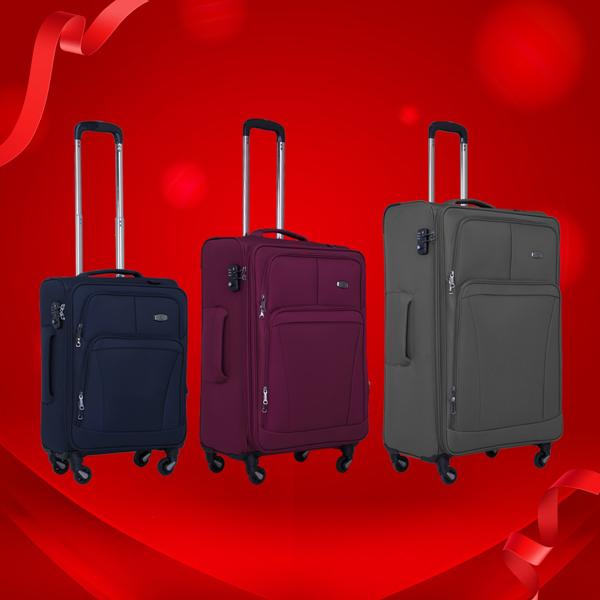 Mẫu vali kéo vảiJena SB1806 với chất liệu vải PE siêu nhẹ, chống ẩm mốc và hạn chế thấmnước theo cơ chế lá sen, giữ màu hiệu quả, chống trầy xước.Sảnphẩm ưu đãi còn 1,29 triệu cho size 19; 1,49 triệu size 24 và 1,69 triệu size 28 tạiLUG.vn.