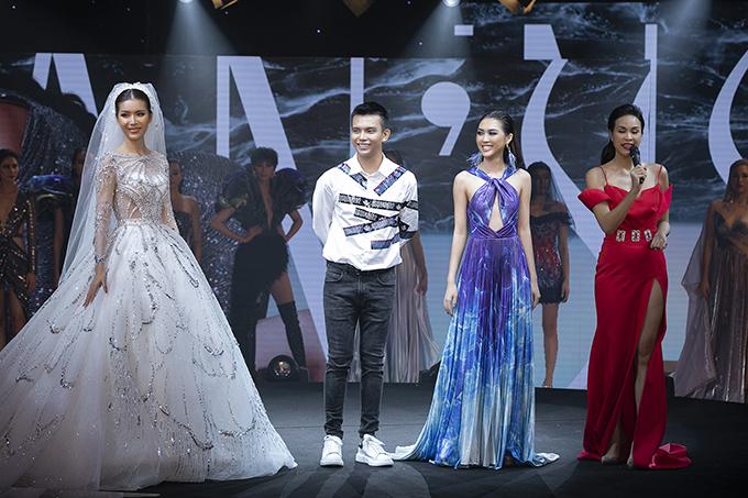 Minh Tú, Đỗ Long, Tường Linh, MC Phương Mai (từ trái qua phải).