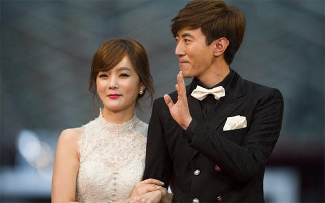 Chea Rim và chồng, tài tử Cao Tử Kỳ.