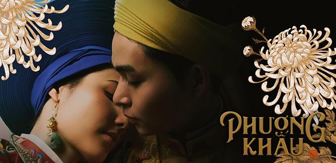 Jun Phạm và Diễm My 9x tình tứ trong phim.