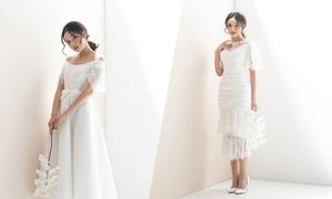 Váy cưới ngắn cho nàng dâu hiện đại