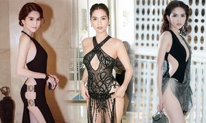 Những kiểu váy hở khiến Ngọc Trinh bị 'ném đá'