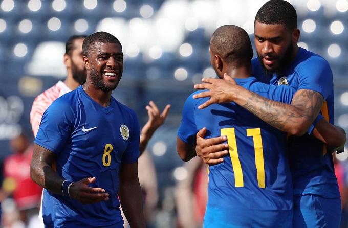 Niềm vui của cầu thủ Curacao. Ảnh: Đức Đồng.