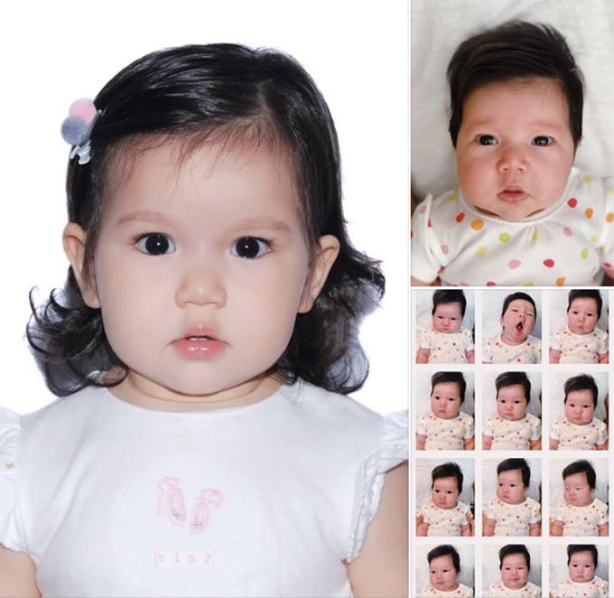 Hà Anh khen con gái lột xác thành công sau 10 tháng.