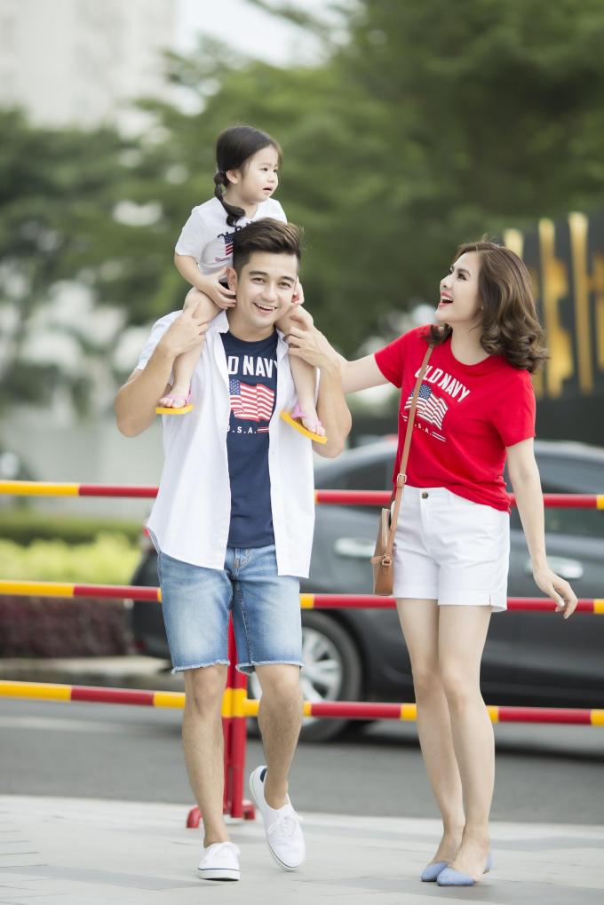 Gia đình Vân Trang diện trang phục Old Navy dạo chơi cuối tuần - 9