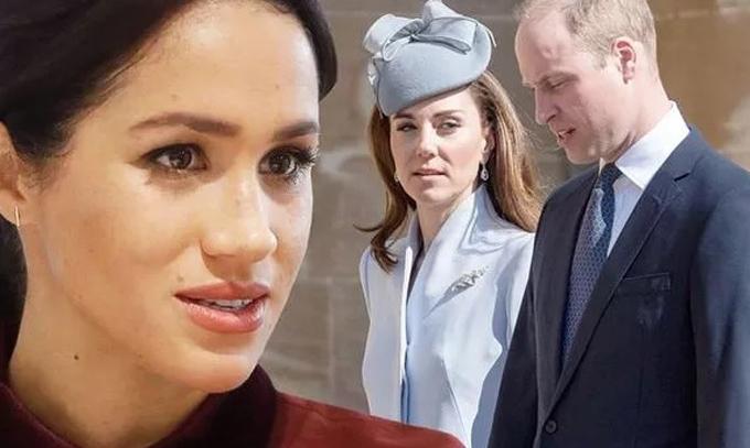 Mối quan hệ của vợ chồng William - Kate với nhà Harry - Meghan trở nên xấu đi từ sau đám cưới hoàng gia hồi tháng 5 năm ngoái. Ảnh: Express.