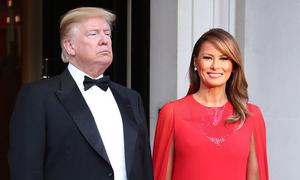 Melania Trump ghi điểm vì chọn trang phục ý nghĩa trong chuyến thăm Anh