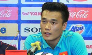 Tiến Dũng lần đầu phát biểu trong vai trò đội trưởng U23 Việt Nam