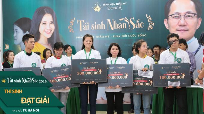 Những thí sinh giành tấm vé Tái sinh nhan sắc 2019 đặc biệt khu vực Hà Nội.
