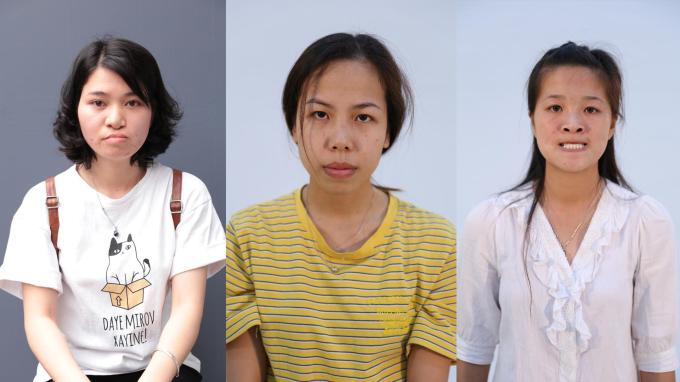 Các thí sinh đã vượt qua vòng tuyển chọn trực tiếp của Tái sinh nhan sắc tại Hà Nội
