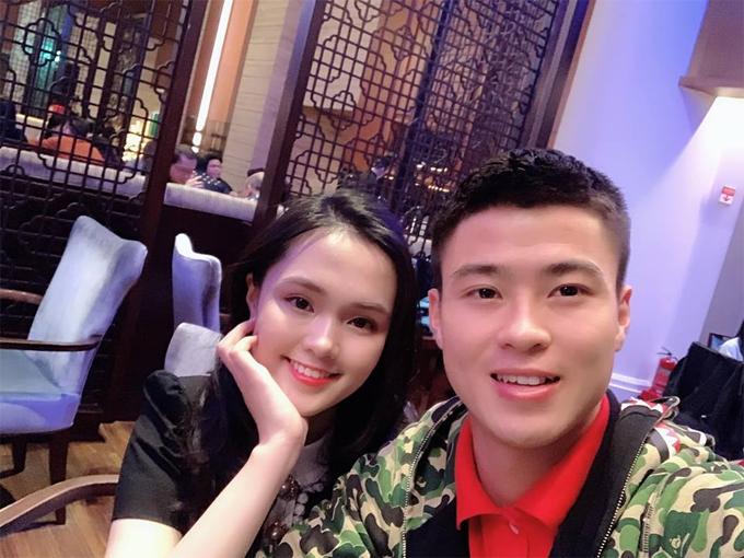 Duy Mạnh và bạn gái Quỳnh Anh.