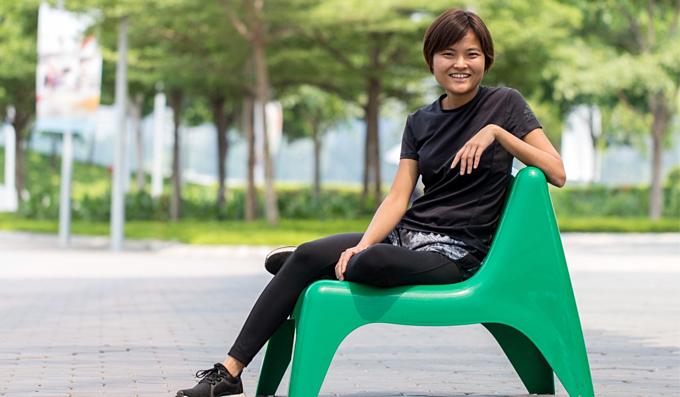Tan Hooi Ling mê thể thao. Ảnh: SCMP.