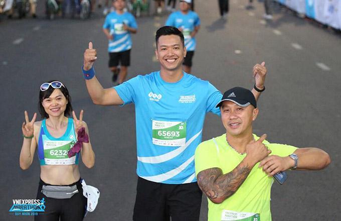 Đức Vĩnh xuất sắc hoàn thành thử thách chạy 10km trong thời gian 60 phút.