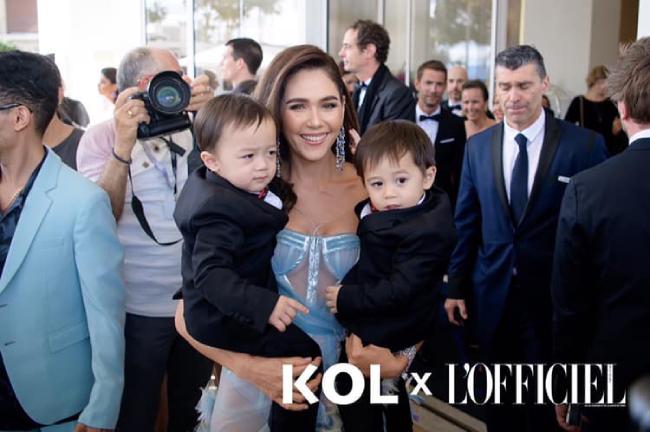 Những hình ảnh của ba mẹ con tại Cannes 2019.