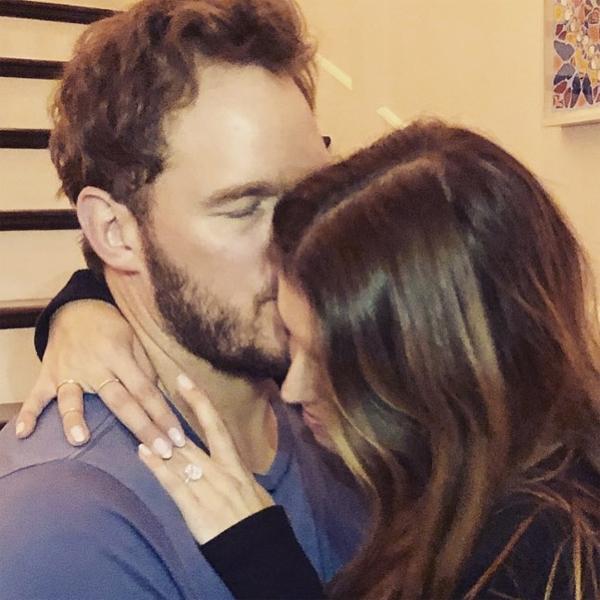 Tấm ảnh Chris Pratt cầu hôn Katherin Schwarzenegger hồi tháng 1.