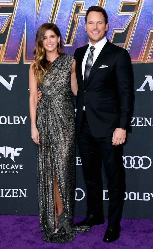 Katherine Schwarzenegger cùng Chris Pratt dự buổi công chiếu phim Avengers: Endgame hồi tháng 4.
