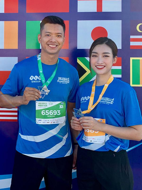 Hoa hậu Đỗ Mỹ Linh cũng dự giải chạy tổ chức ở Quy Nhơn. Cô chinh phục thành công quãng đường 5km.